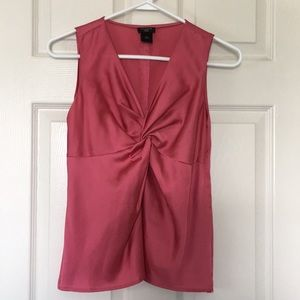 Ann Taylor Sleeveless Knot Front Top